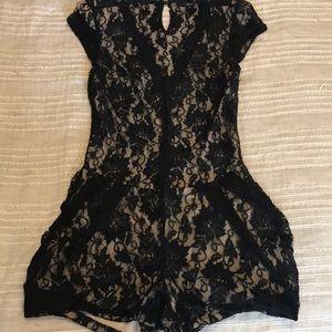 Ark & Co. black lace romper | size M